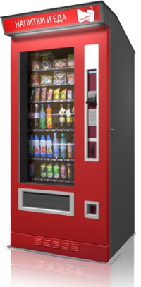 Так выглядит снековый автомат foodbox в уличном исполнении